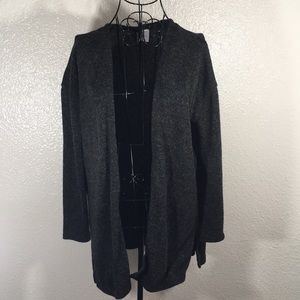 H&M Divided Gray Speckled Open Front Cardigan